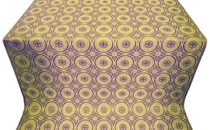 Samara metallic brocade (violet/gold)