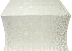 Chalice metallic brocade (white/silver)