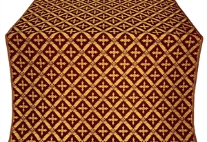 Polistavrion metallic brocade (claret/gold)