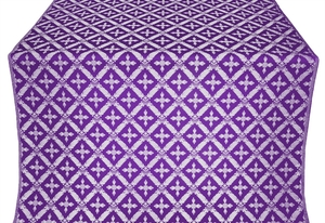 Polistavrion metallic brocade (violet/silver)