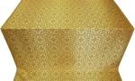 Rous' metallic brocade (yellow/gold with claret)