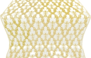 Golgotha metallic brocade (white/gold)