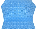 St. George Cross metallic brocade (blue/silver)