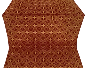 St. George Cross metallic brocade (claret/gold)
