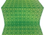 St. George Cross metallic brocade (green/gold)