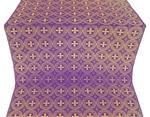 St. George Cross metallic brocade (violet/gold)
