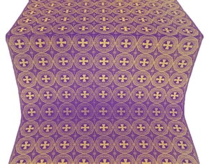 St. George Cross metallic brocade (violet/gold)