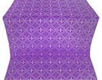 St. George Cross metallic brocade (violet/silver)