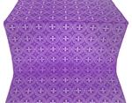 St. George Cross metallic brocade (violet/silver)
