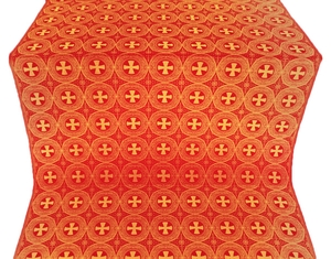 St. George Cross metallic brocade (red/gold)