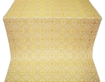 St. George Cross metallic brocade (white/gold)