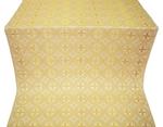St. George Cross metallic brocade (white/gold)