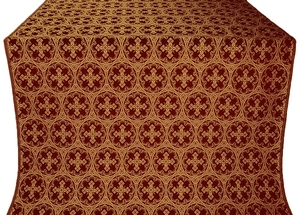 Paschal Cross metallic brocade (claret/gold)