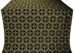 Paschal Cross metallic brocade (black/gold)