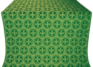 Paschal Cross metallic brocade (green/gold)