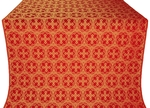 Paschal Cross metallic brocade (red/gold)