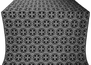Paschal Cross metallic brocade (black/silver)