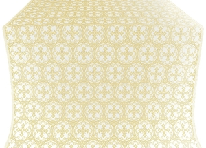 Paschal Cross metallic brocade (white/gold)