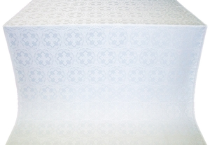 Paschal Cross metallic brocade (white/silver)