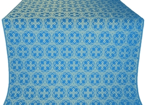 Paschal Cross silk (rayon brocade) (blue/gold)