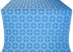 Paschal Cross silk (rayon brocade) (blue/silver)