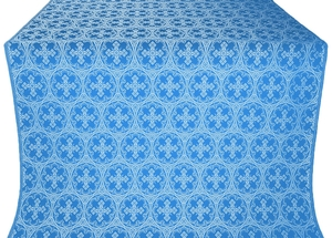 Paschal Cross silk (rayon brocade) (blue/silver)