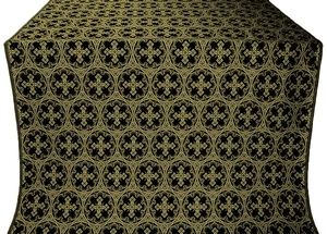 Paschal Cross silk (rayon brocade) (black/gold)