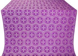 Paschal Cross silk (rayon brocade) (violet/silver)
