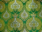 Domes metallic brocade (green/gold)
