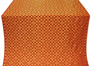 Verona silk (rayon brocade) (red/gold)
