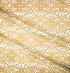 Wrought Cross metallic brocade (white/gold)