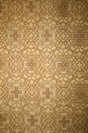 Wrought Cross metallic brocade (yellow/gold)