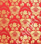 Festal Bouquet metallic brocade (red/gold)
