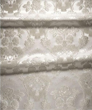 Festal Bouquet metallic brocade (white/silver)