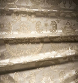 Samaria metallic brocade (white/silver)