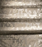 Greek Eagle metallic brocade (white/silver)
