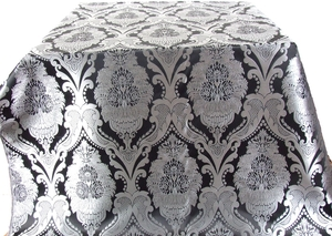 Vase metallic brocade (black/silver)