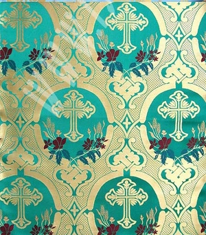 Brabant metallic brocade (green/gold)