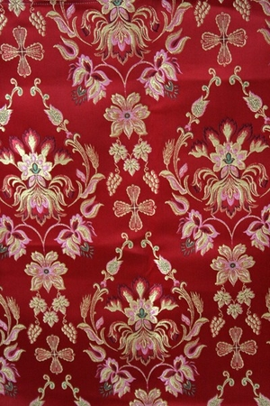 Antiokhiya metallic brocade (red/gold)