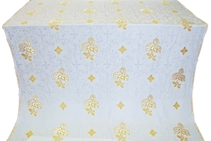 Greek Rose metallic brocade (white/gold)