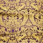 Damask metallic brocade (violet/gold)