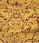Damask metallic brocade (claret/gold)