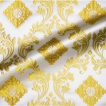 Aegina metallic brocade (white/gold)