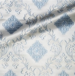 Aegina metallic brocade (white/silver)