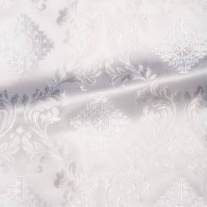 Aegina metallic brocade (white/silver)