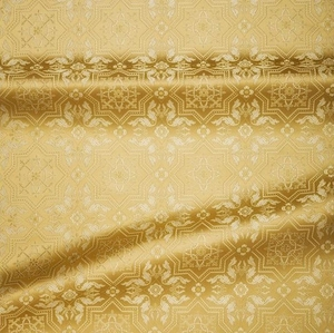 Rhodes metallic brocade (white/gold)