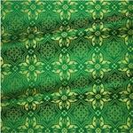 Rhodes metallic brocade (green/gold)