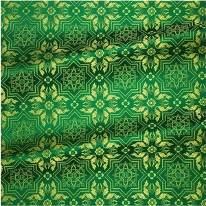 Rhodes metallic brocade (green/gold)