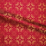Rhodes metallic brocade (red/gold)