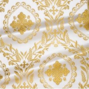 Patras metallic brocade (white/gold)